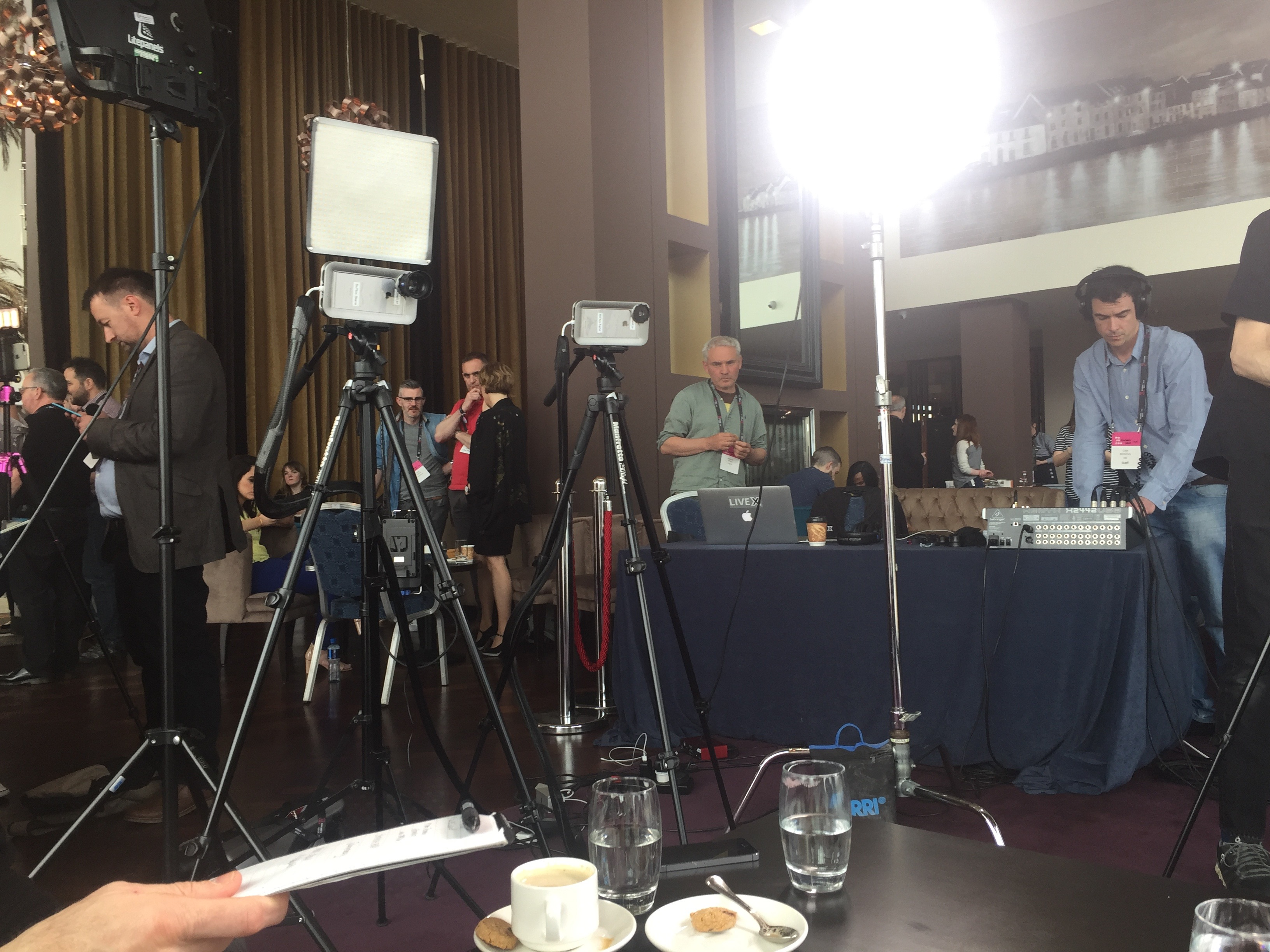 The RTE 'studio' at Mojocon