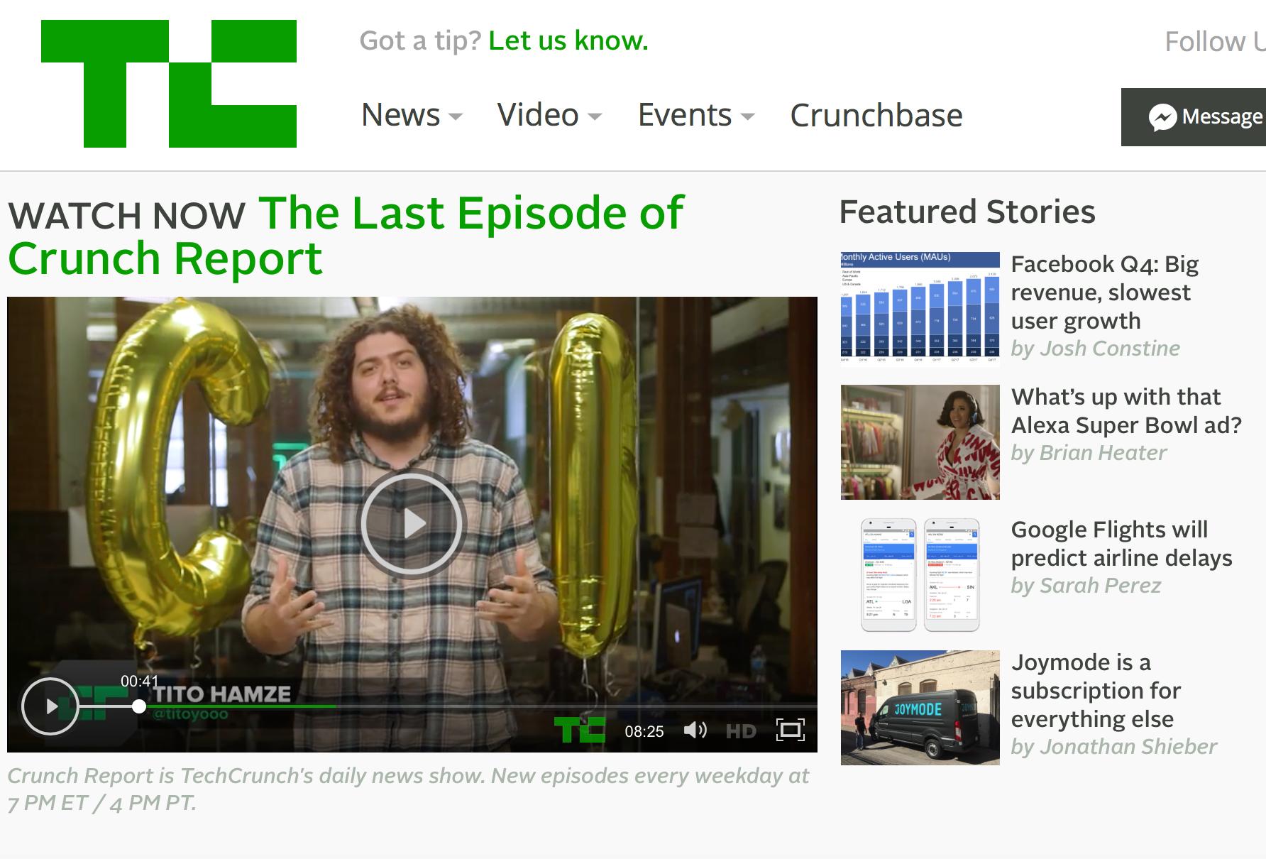 Tech Crunch,Crunch Report, Video, Online, NY Times